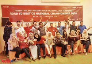 Motivation and Presentation Training Telkomsel Area Sumatera