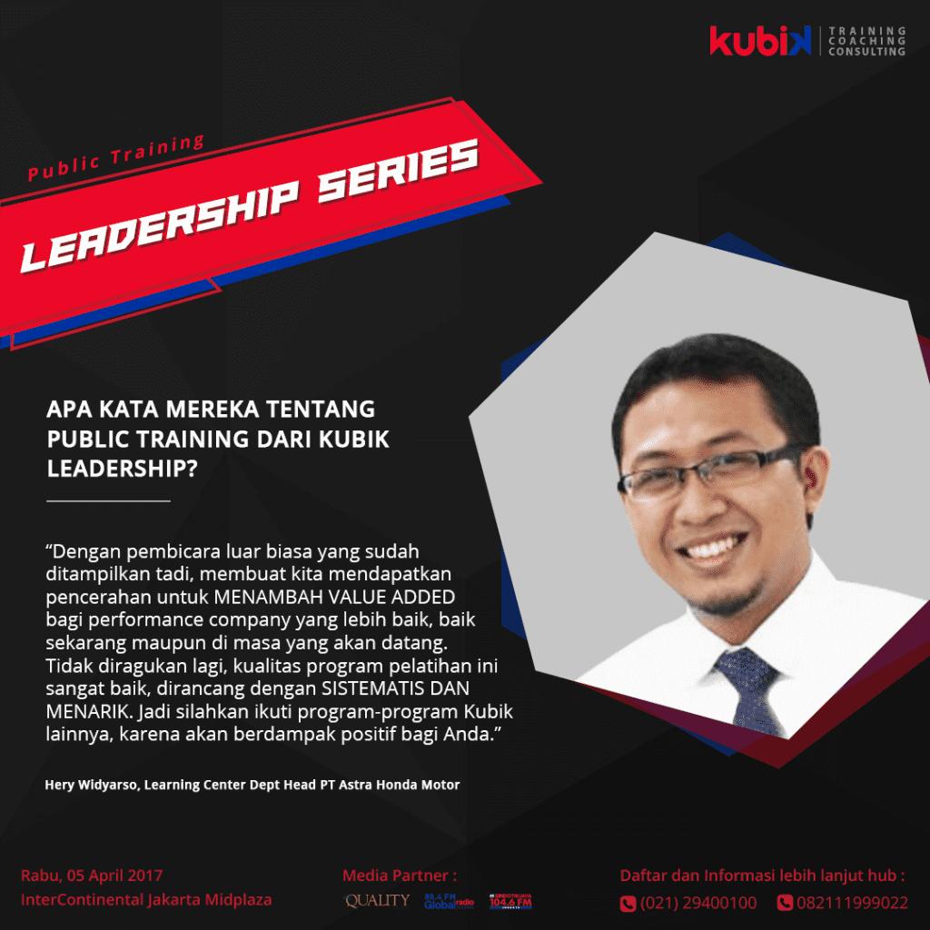 Testimoni public training Kubik Leadership 2