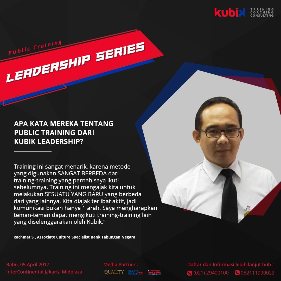 Testimoni public training Kubik Leadership
